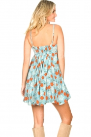 Genesis |  Dress with floral print Julia | blue  | Picture 8