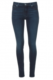 7 For All Mankind |  High waist skinny jeans Slim Illusion | dark blue  | Picture 1