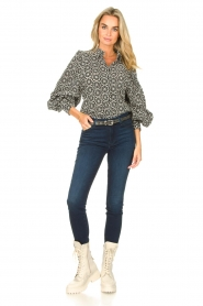 7 For All Mankind |  High waist skinny jeans Slim Illusion | dark blue  | Picture 2