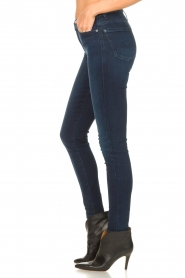 7 For All Mankind |  High waist skinny jeans Slim Illusion | dark blue  | Picture 5