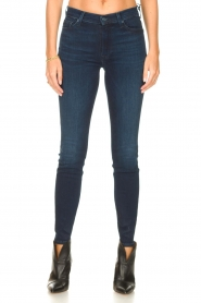 7 For All Mankind |  High waist skinny jeans Slim Illusion | dark blue  | Picture 4