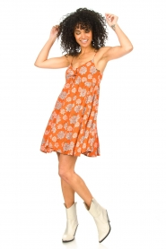 Genesis |  Dress with floral print Julia | red  | Picture 3