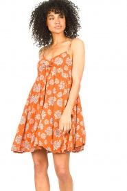 Genesis |  Dress with floral print Julia | red  | Picture 2