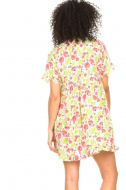 Genesis |  Dresss with floral print Inezz | white  | Picture 6