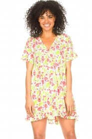 Genesis |  Dresss with floral print Inezz | white  | Picture 2