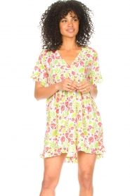 Genesis |  Dresss with floral print Inezz | white  | Picture 4