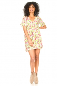 Genesis |  Dresss with floral print Inezz | white  | Picture 3