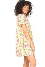 Genesis |  Dresss with floral print Inezz | white  | Picture 5
