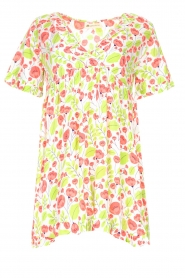 Genesis |  Dresss with floral print Inezz | white  | Picture 1
