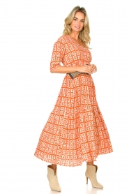 Genesis :  Maxi dress with graphic print Luih | red - img3
