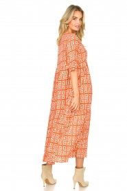 Genesis :  Maxi dress with graphic print Luih | red - img7