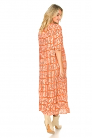 Genesis :  Maxi dress with graphic print Luih | red - img8