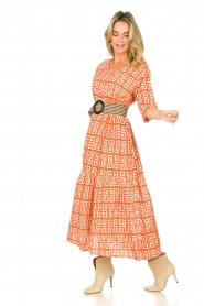 Genesis :  Maxi dress with graphic print Luih | red - img2