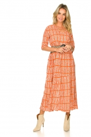 Genesis :  Maxi dress with graphic print Luih | red - img4