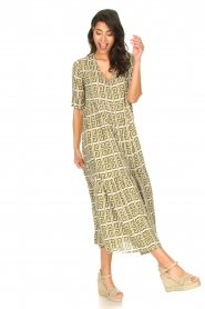 Genesis |  Maxi dress with graphic print Luih | green  | Picture 4