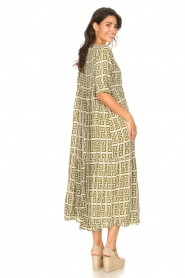 Genesis |  Maxi dress with graphic print Luih | green  | Picture 6