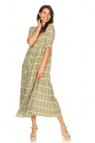 Genesis |  Maxi dress with graphic print Luih | green  | Picture 3