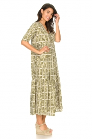 Genesis |  Maxi dress with graphic print Luih | green  | Picture 5