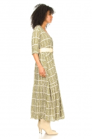 Genesis :  Maxi dress with graphic print Luih | green - img4