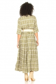 Genesis :  Maxi dress with graphic print Luih | green - img6
