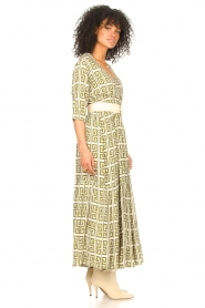 Genesis :  Maxi dress with graphic print Luih | green - img5