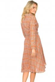 Genesis |  Asymmetric midi dress Tess | red  | Picture 6