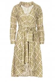 Genesis |  Asymmetric midi dress Tess | green  | Picture 1
