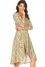 Genesis |  Asymmetric midi dress Tess | green  | Picture 4