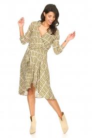 Genesis |  Asymmetric midi dress Tess | green  | Picture 3