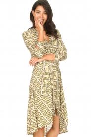 Genesis |  Asymmetric midi dress Tess | green  | Picture 5