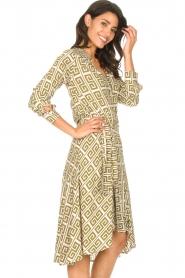 Genesis |  Asymmetric midi dress Tess | green  | Picture 6