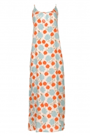 Genesis |  Maxi dress with floral print Melia | natural