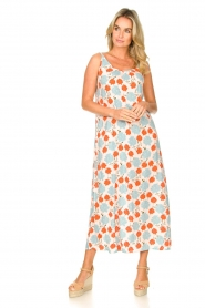 Genesis |  Maxi dress with floral print Melia | natural  | Picture 4