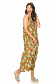 Genesis |  Maxi dress with floral print Melia | green  | Picture 3