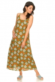 Genesis |  Maxi dress with floral print Melia | green  | Picture 4