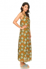 Genesis |  Maxi dress with floral print Melia | green  | Picture 5