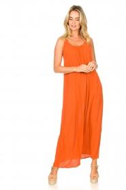 Genesis |  Maxi dress with crêpe fabric Melia | orange  | Picture 3