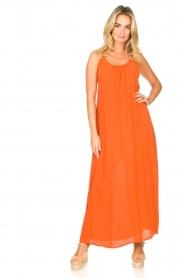 Genesis |  Maxi dress with crêpe fabric Melia | orange  | Picture 4