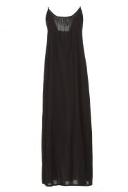Genesis |  Maxi dress with crêpe fabric Melia | black