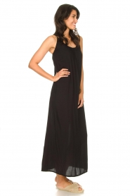 Genesis |  Maxi dress with crêpe fabric Melia | black  | Picture 4