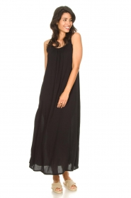 Genesis |  Maxi dress with crêpe fabric Melia | black  | Picture 3
