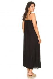 Genesis |  Maxi dress with crêpe fabric Melia | black  | Picture 5