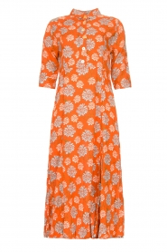 Genesis |  Maxi dress with floral print Asha | red  | Picture 1