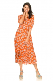 Genesis |  Maxi dress with floral print Asha | red  | Picture 3