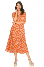 Genesis |  Maxi dress with floral print Asha | red  | Picture 4