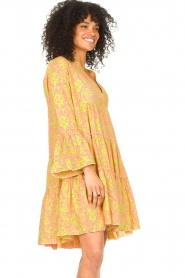 Genesis |  Dress with print Luna | pink  | Picture 5