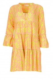 Genesis |  Dress with print Luna | pink  | Picture 1