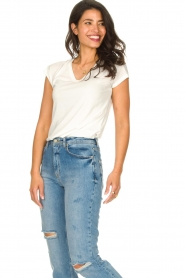 JC Sophie :  Modal T-shirt Goldy | white - img2