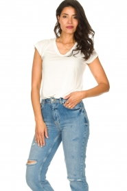 JC Sophie :  Modal T-shirt Goldy | white - img3