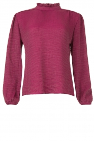 Dante 6    Top with crêpe effect Temperly   bordeaux    Picture 1